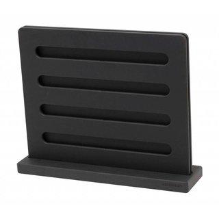 """Messenblok staand 30 cm (12"""") zwart"""