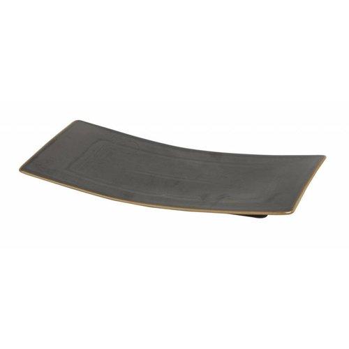 Pillivuyt servies Bronze, rechthoekig bord 32 x 16 cm, Quartet