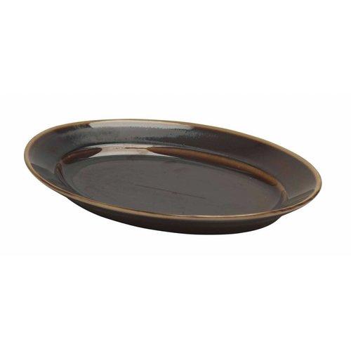 Pillivuyt servies Bronze, ovaal schaaltje 33 x 23,3 cm   N*12