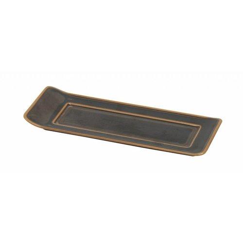 Pillivuyt servies Bronze, dienblad voor cassolette 21,1 x 8,6 cm, Vendôme