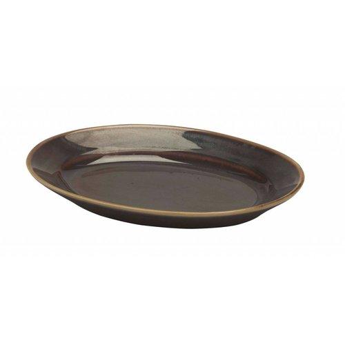 Pillivuyt servies Bronze, ovaal schaaltje 25,1 x 17,2 cm | N*9