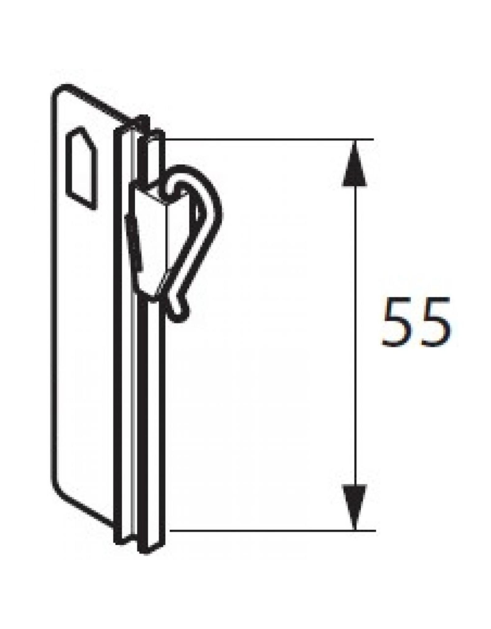 Goldmann Gordijnhaken verstelbaar 55mm - 10stuks