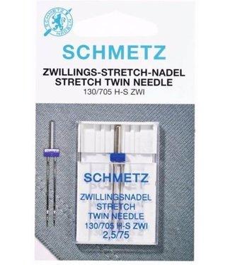 Schmetz Schmetz Stretch tweeling 1 naald 2.5-75 - 10st