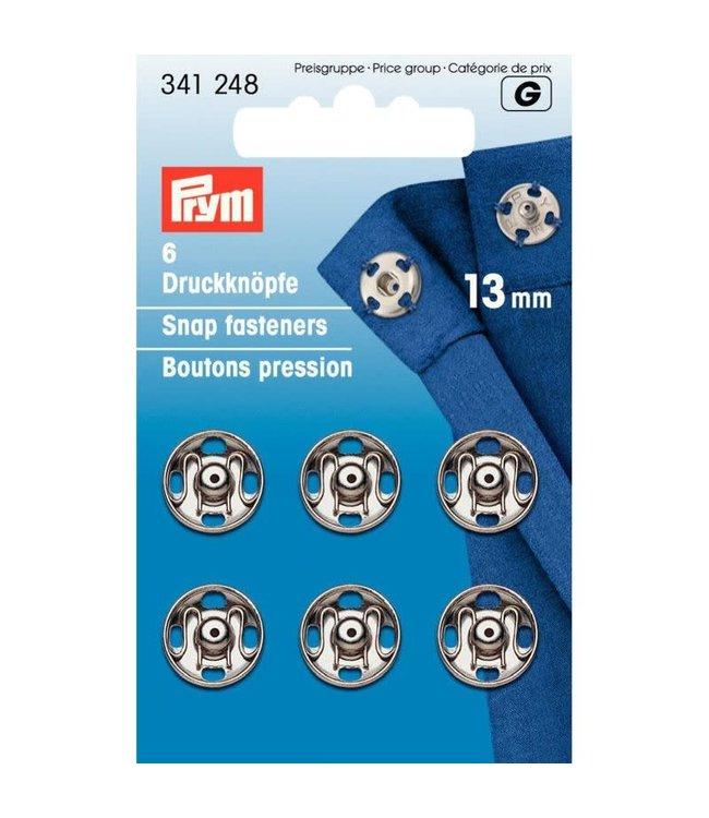 Prym Prym Drukkers Zilver 13mm (krt)