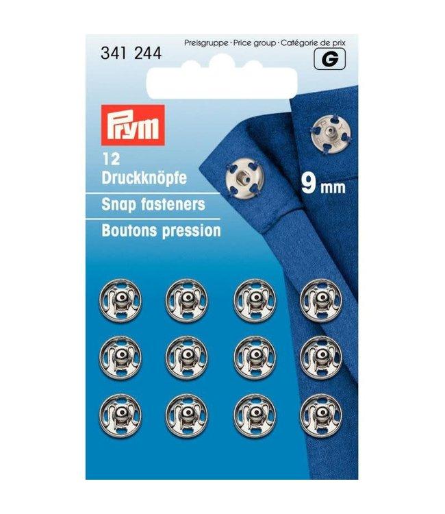 Prym Prym Drukkers Zilver 9mm (krt)