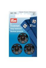 Prym Prym Drukkers Zwart 21mm (krt)