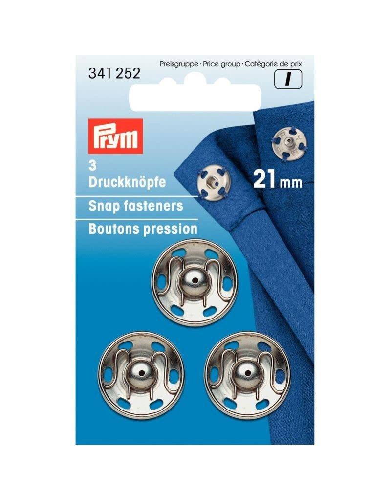 Prym Prym Drukkers Zilver 21mm (krt)