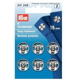 Prym Prym Drukkers Zilver 15mm (krt)