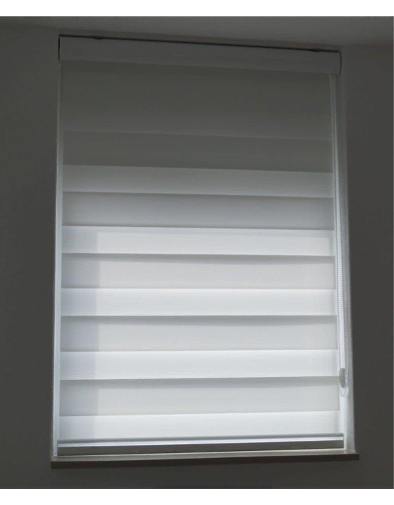 White lichtdoorlatend - Duo Rolgordijn