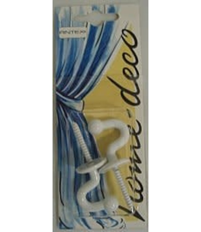 A. Schroder Home Deco Embrassehaak 28 mm wit per 2 stuks