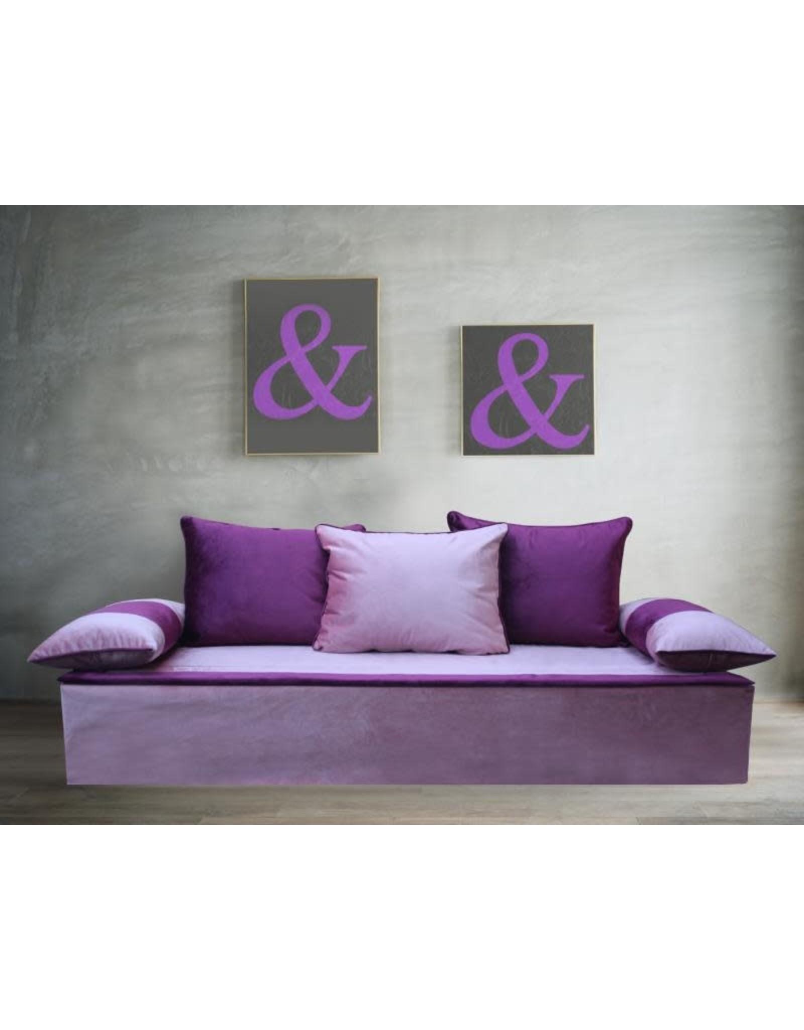 Blatex stof set roze / paars