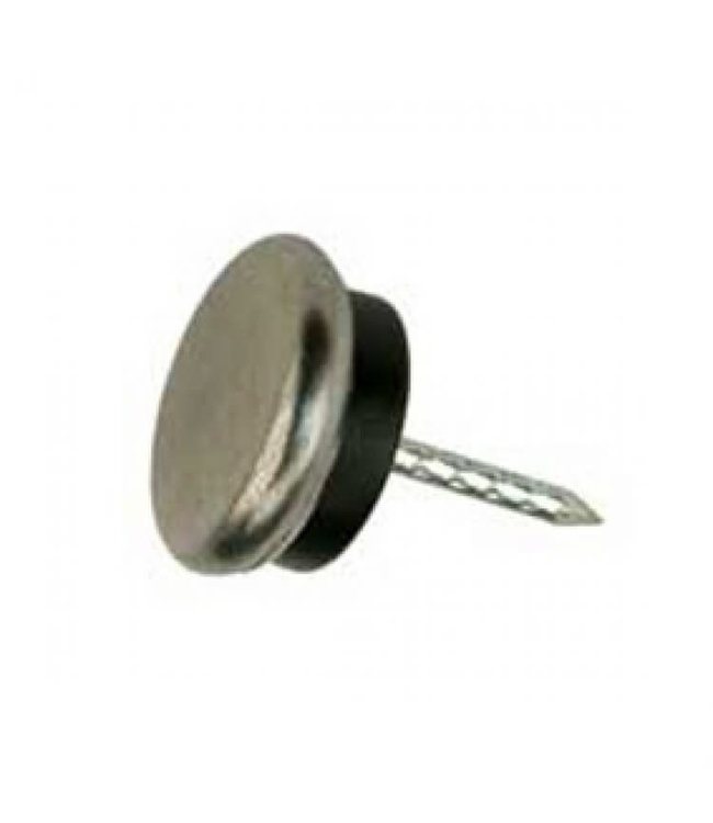 Glijnagel, staal verzinkt rubber buffer 25 mm per 4 stuks