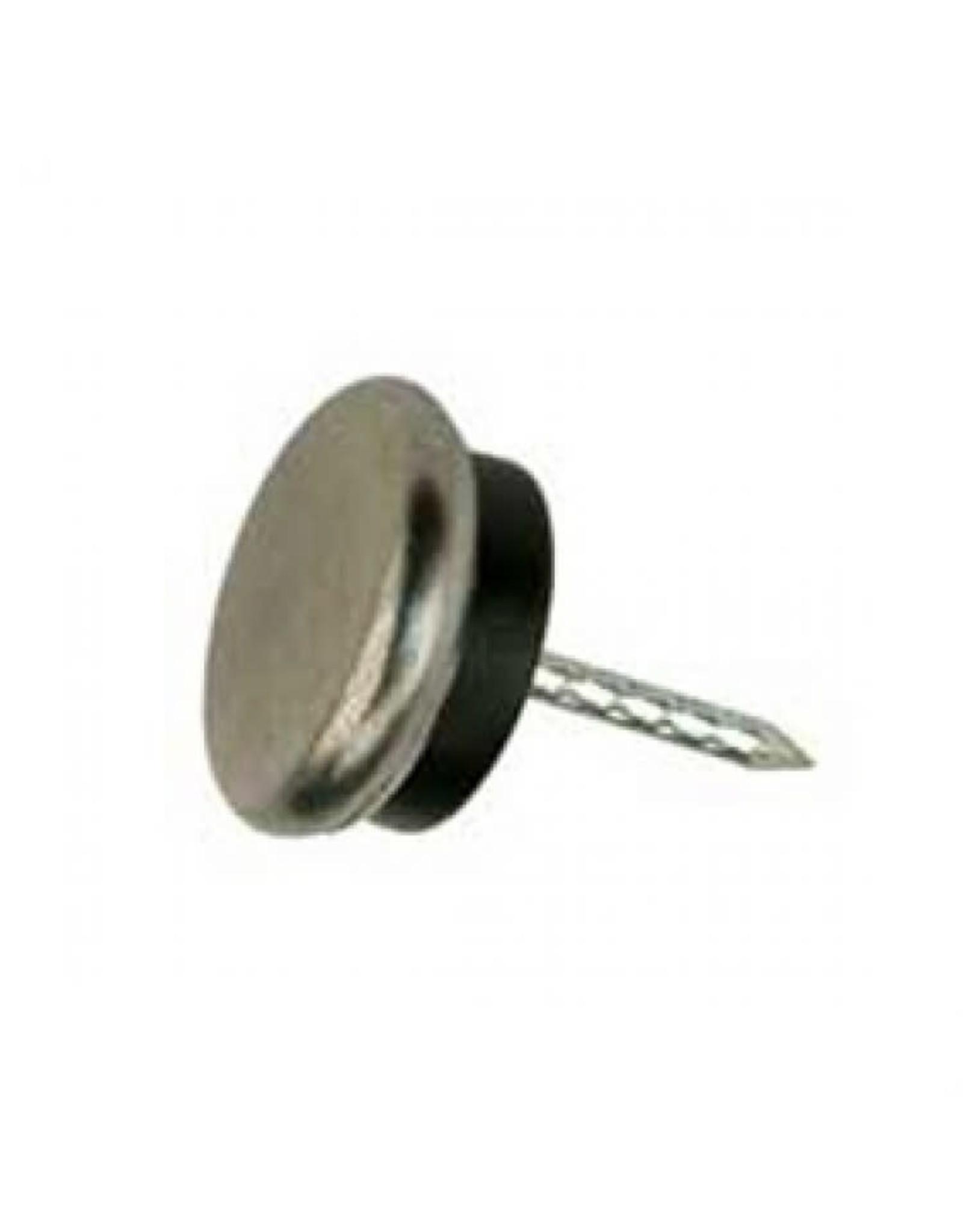 Glijnagel, staal verzinkt rubber buffer 30 mm per 4 stuks