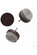 Viltnagel, nylon bruin met nagel diameter 24 mm per 16 stuks