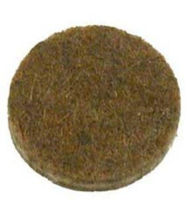 Anti-krasvilt, zelfklevend bruin ø18 mm per 16 stuks