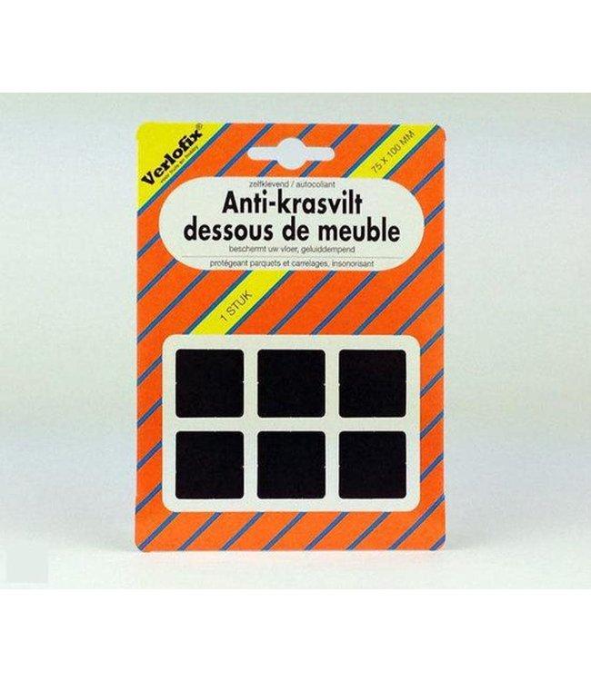 Anti-krasvilt, zelfklevend bruin 75 x 100 mm per 1 stuk