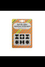 Anti-slip rubber, zelfklevend zwart ø18 mm per 16 stuks