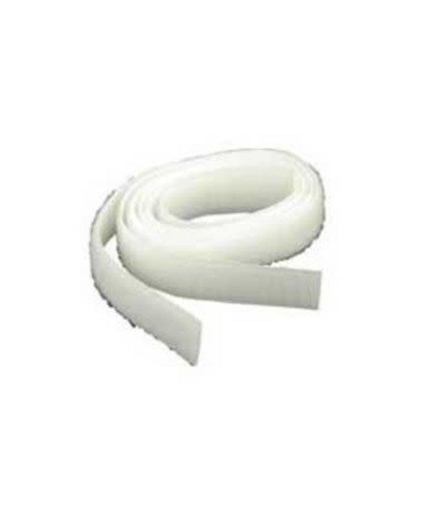 Klittenband, wit haak en lus 20 mm x 1 m