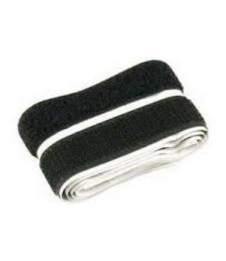 Klittenband, zwart haak en lus 20 mm x 1 m