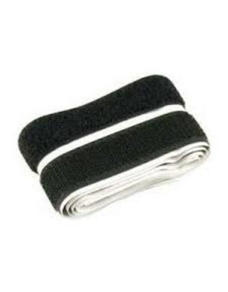 Klittenband, zwart haak en lus 20 mm x 1 m klevend