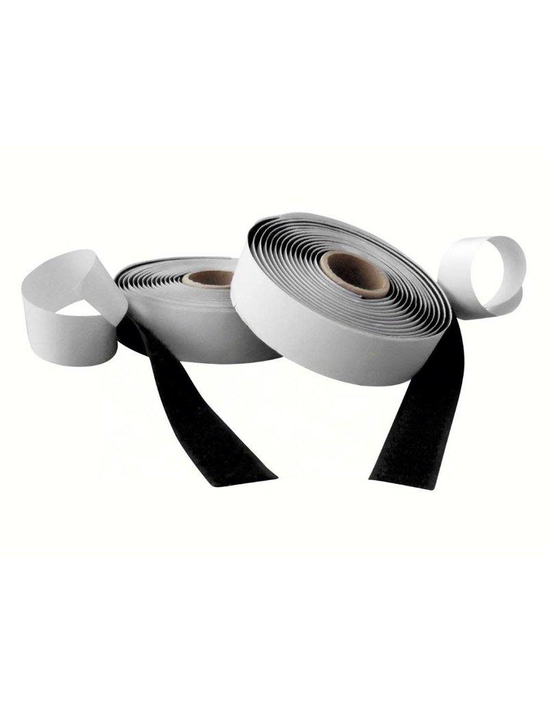 Klittenband, zwart haak en lus 20 mm x 10 m klevend