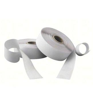Klittenband, wit haak en lus rol 20 mm x 25 m