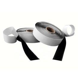 Klittenband, zwart haak en lus rol 20 mm x 25 m klevend