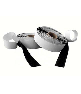 Klittenband, zwart haak en lus rol 20 mm x 25 m