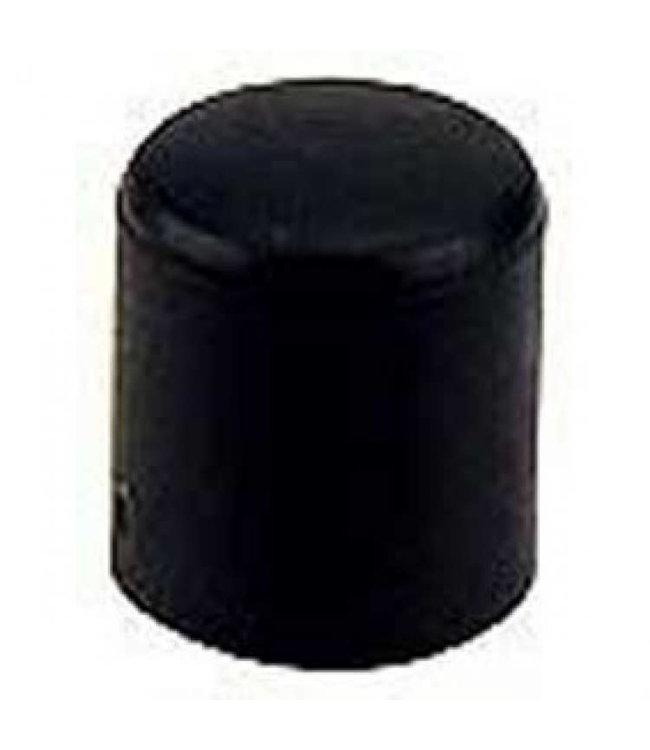Meubeldop, kunststof voor om ronde poot 12 mm per 4 stuks