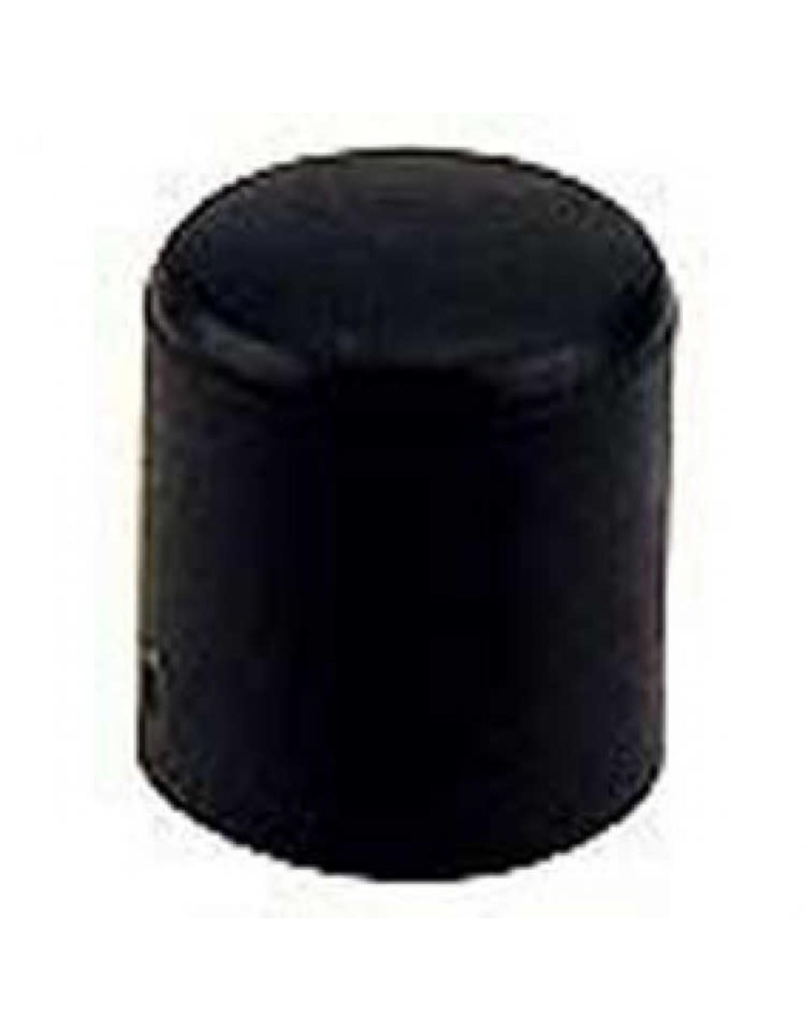 Meubeldop, kunststof voor om ronde poot 25 mm per 4 stuks