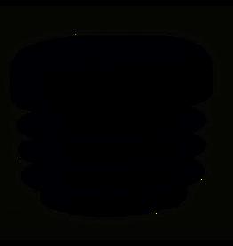 Buisstop rond, kunststof voor in ronde poot 22 mm