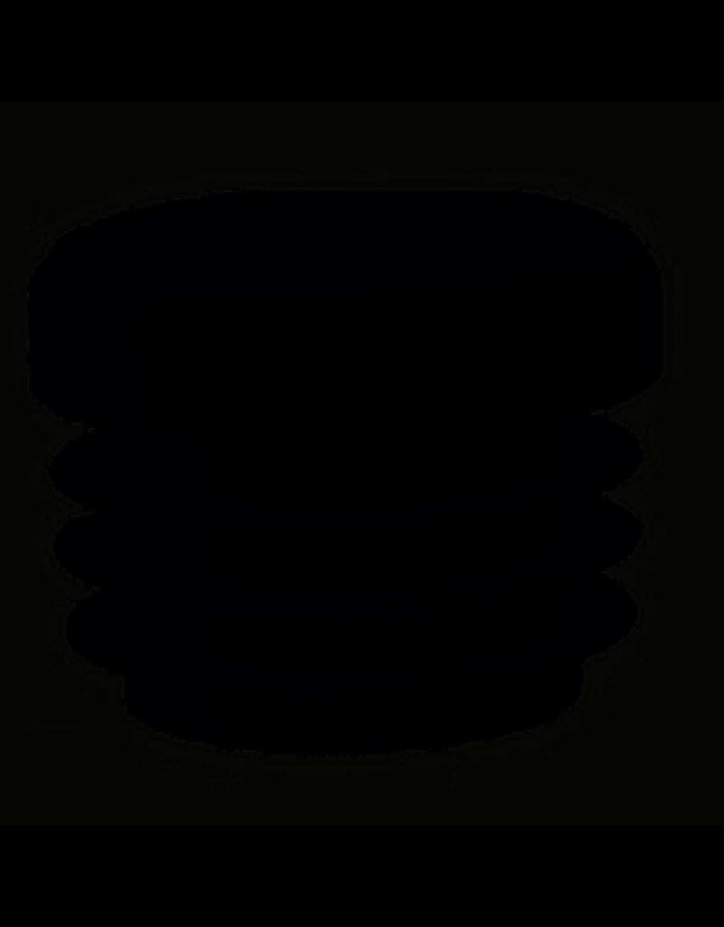 Buisstop rond, kunststof voor in ronde poot 25 mm
