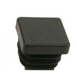 Buisstop vierkant, zwart kunststof 30 x 30 mm lamelstop per 4 stuks