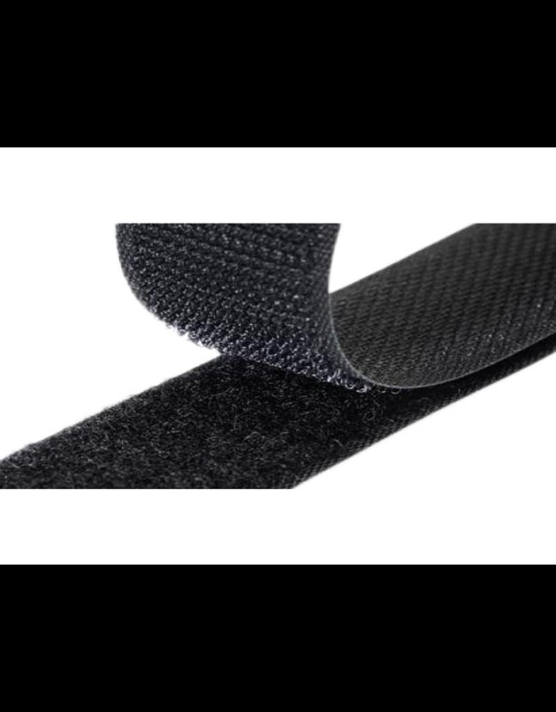 Klittenband, naaibevestiging zwart haak en lus 20 mm x 0,5 m