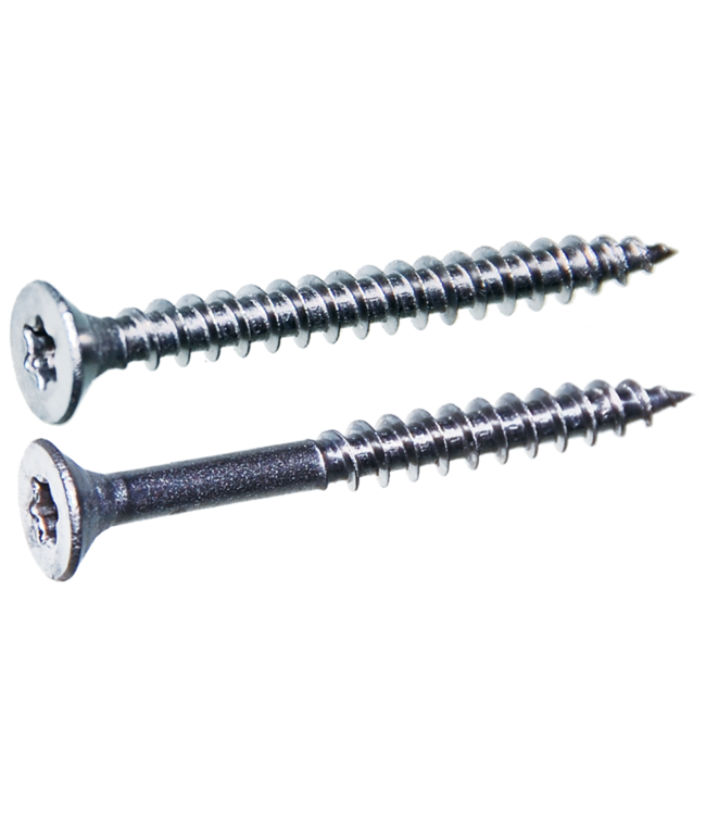 Spaanplaatschroeven platkop 3.5x30 TX-15 staal gehard verzinkt per 200 stuks
