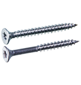Spaanplaatschroeven platkop 3.0x30 TX-10 staal gehard verzinkt per 200 stuks