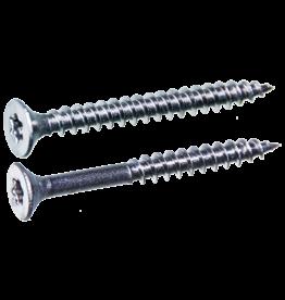 Spaanplaatschroeven platkop deeldraad 4.0x35/21 TX-20 staal gehard verzinkt per 200 stuks