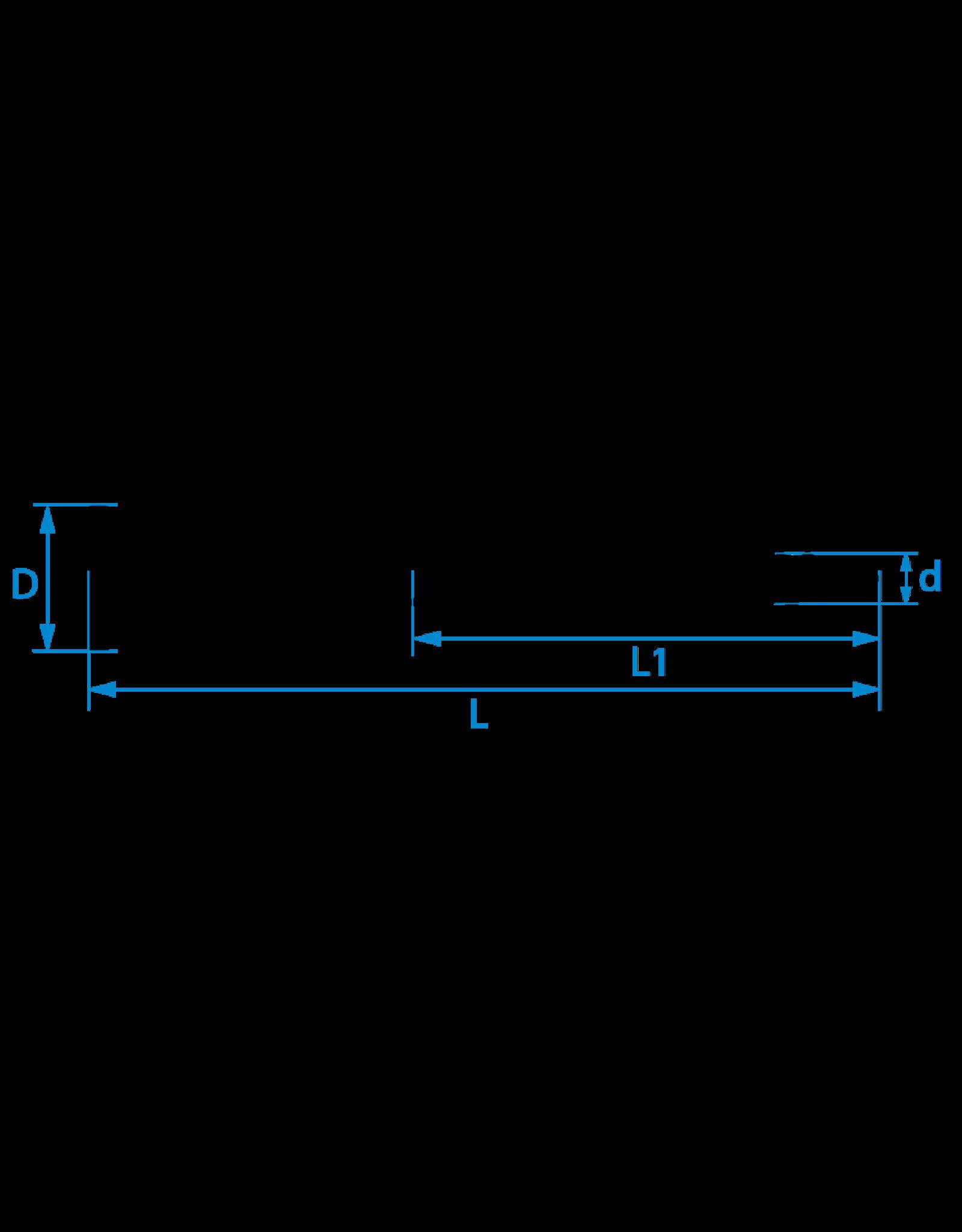 Spaanplaatschroeven platkop deeldraad 5.0x90/54 TX-25 staal gehard verzinkt per 200 stuks