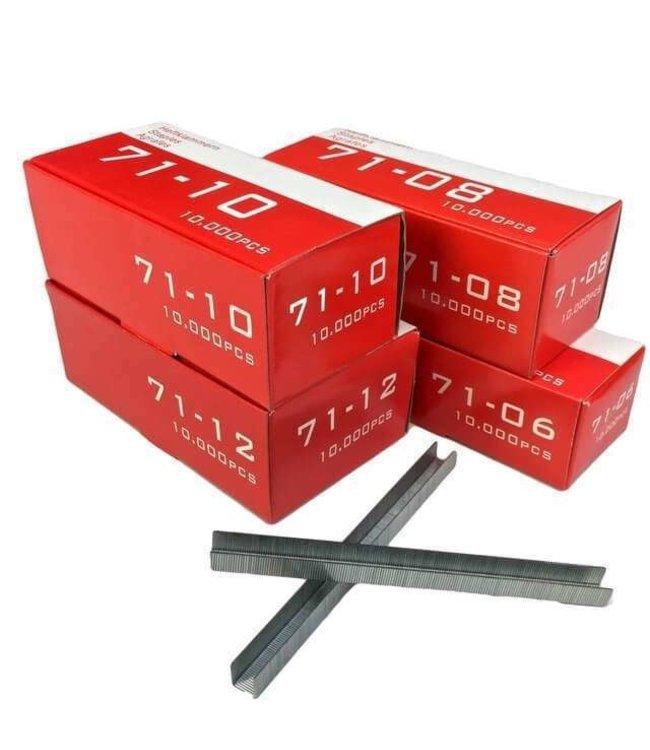 Eigen merk Nietjes type 70 diverse lengtes 10.000 stuks per doos