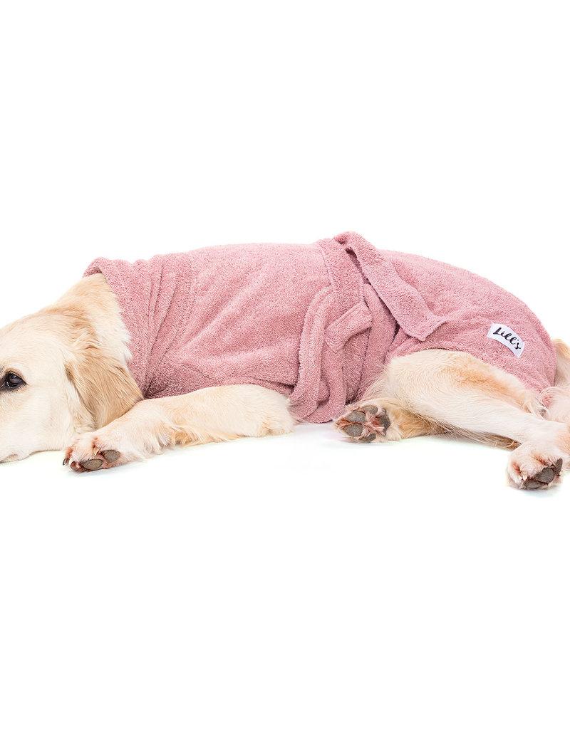 "Hundebademantel von ""Lill's"" pink berry"
