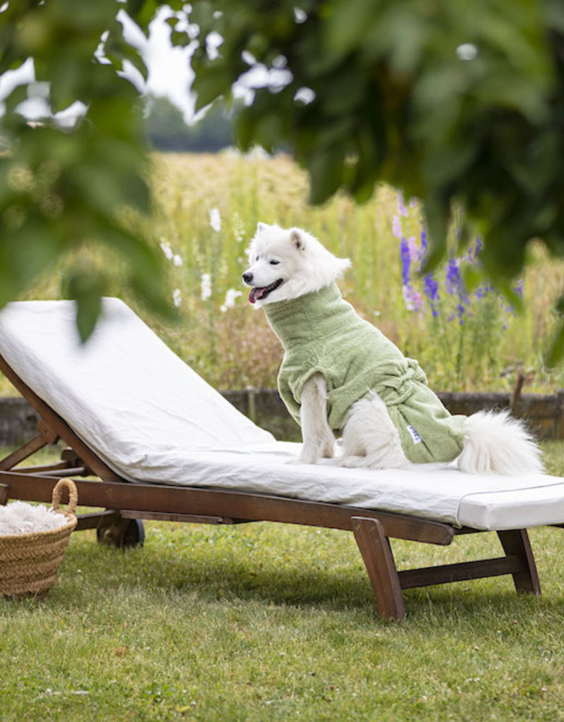 """Hundebademantel von Lill's """"green leaf"""""""