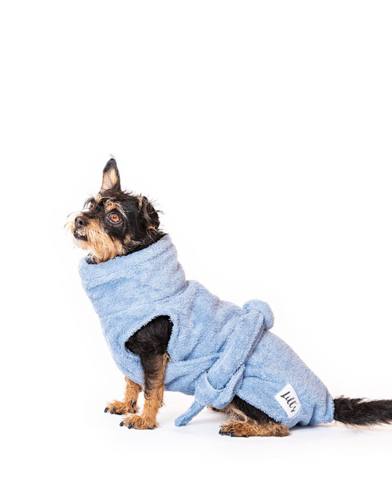"Hundebademantel von Lill's ""ocean blue"""