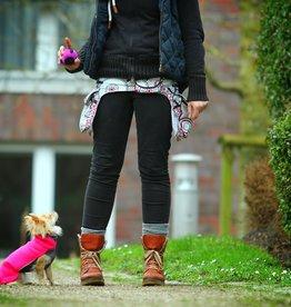 Doppel Hip Bag für Hundebesitzer - weiß gemustert