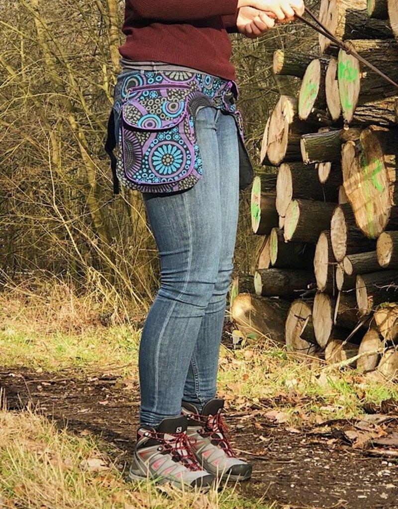 Doppel Hip Bag für Hundebesitzer - lila blau