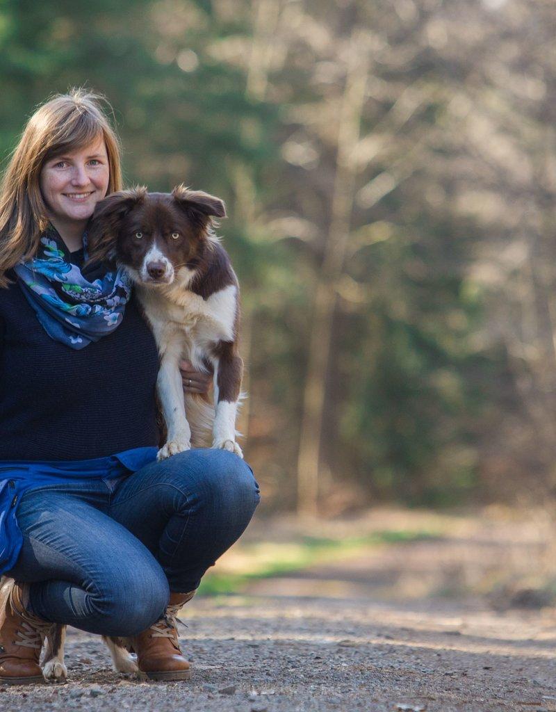 Doppel Hip Bag für Hundebesitzer - sky blue