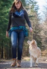 Doppel Hip Bag für Hundebesitzer - petrol/grün