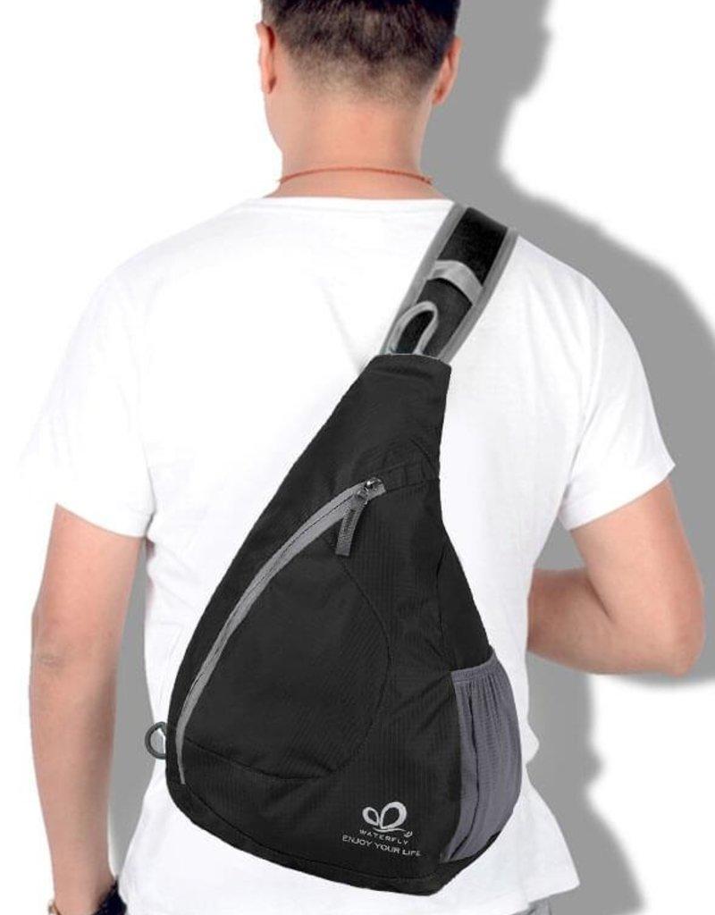 Crossbody schwarz  - Schultertasche für unterwegs