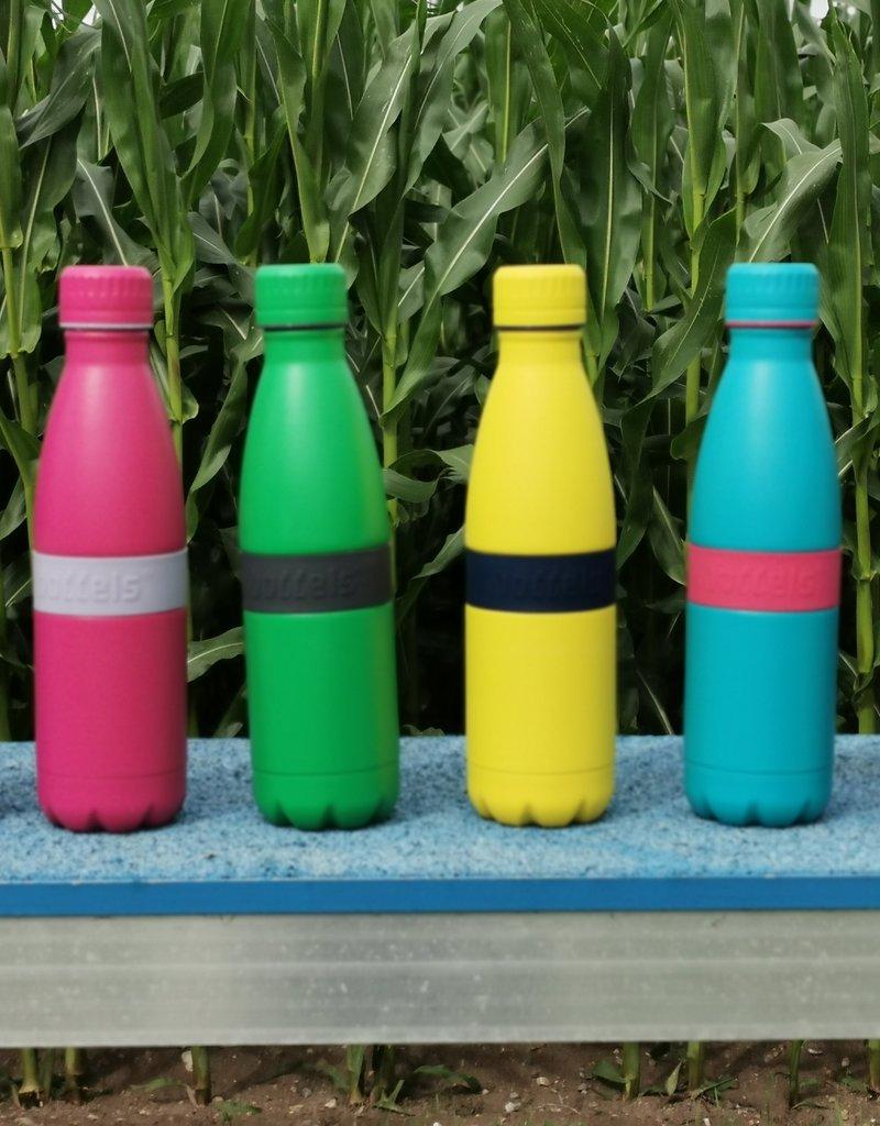 Trinkflasche TWEE+ 500ml Nachtblau/Gelb