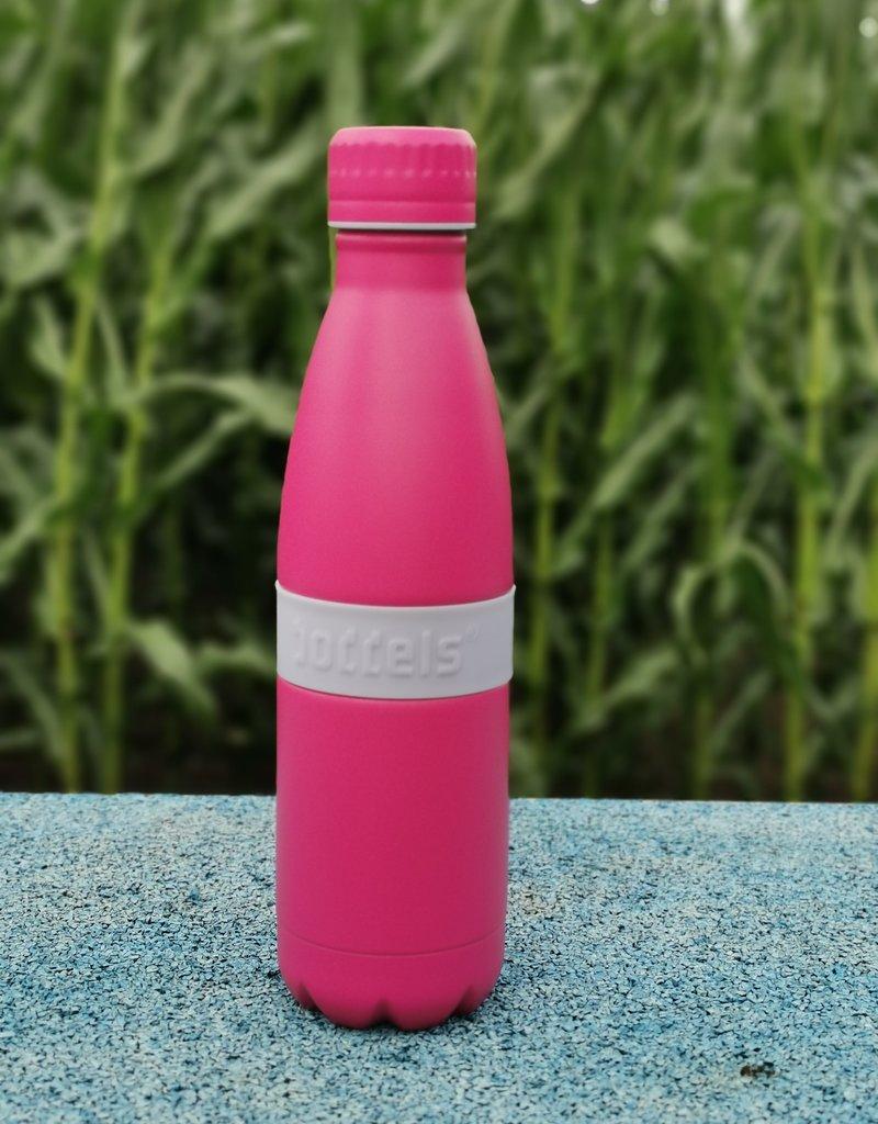 Trinkflasche TWEE+ 500ml Lavendelblau/Pink