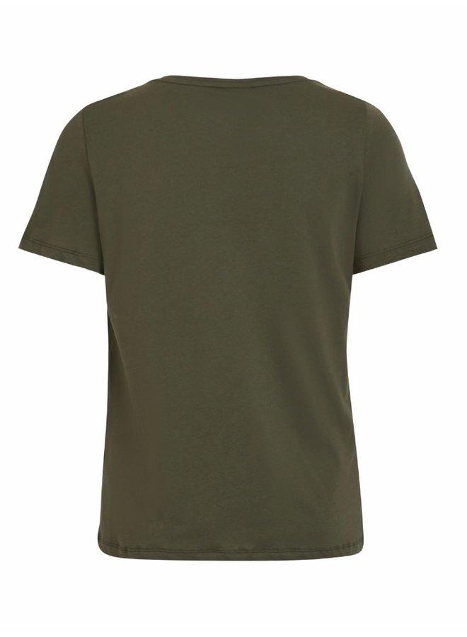 Visus o-neck t-shirt Forest